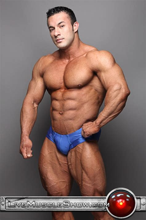 live muscle show ripped muscle hunk anton buttone power sexy italian