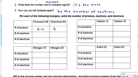 Isotopes Worksheet by Worksheets Ions And Isotopes Worksheet Opossumsoft