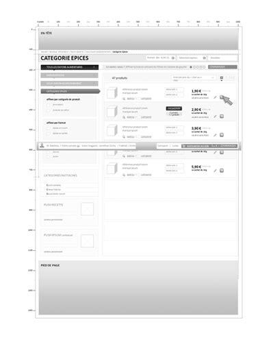 Conception de site ecommerce courses en ligne - étude de
