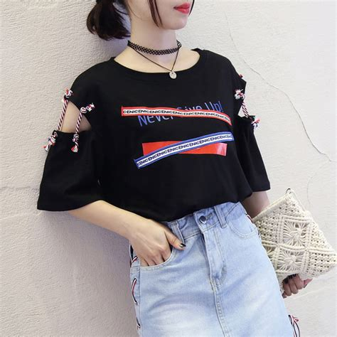 harajuku  size summer tops  women   neck