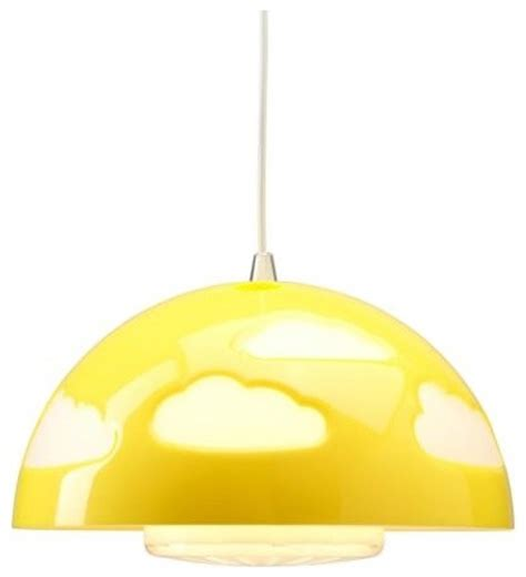 skojig pendant l yellow contemporary ceiling