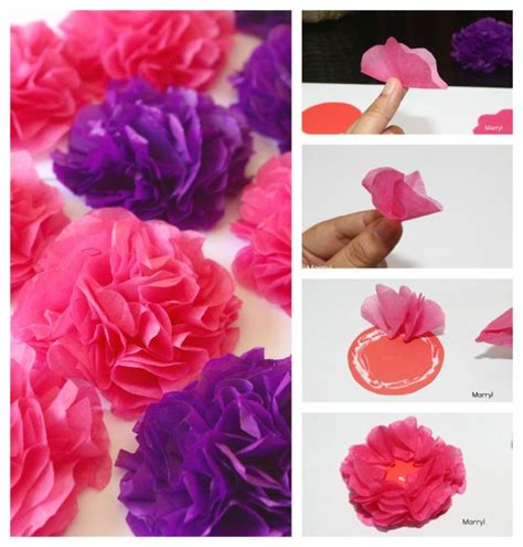 How To Make Tissue Paper Carnations - diy tissue paper carnations gifts to give