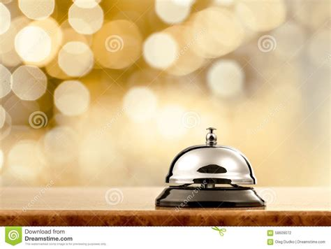hotel bell stock photo image 58609072