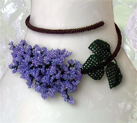 how to make a beaded flower necklace ullabenulla beaded flower necklaces