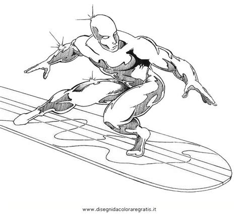 silver silver surfer colouring pages