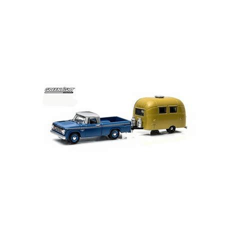 Greenlight Hitch Tow Dodge D 100 hitch tow series 3 1966 dodge d 100 and airstream 16
