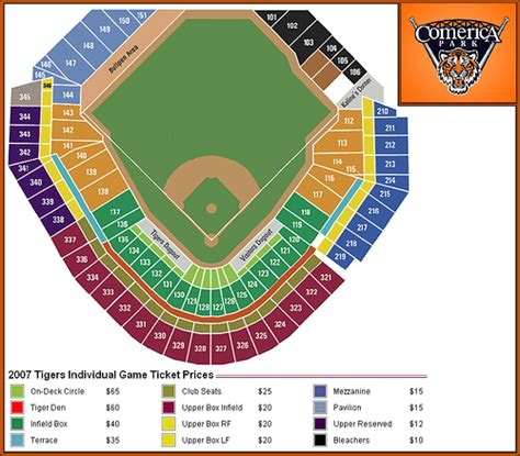 comerica park seating sections comerica park seating flickr photo sharing