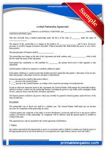 free printable limited partnership agreement form generic