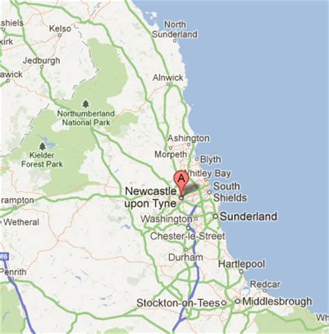 map of north east england bing images