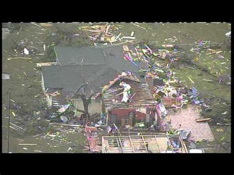 aerial video of tornado destruction in cleburne, tx (from