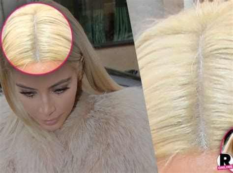 does chris jenner wear a wig more kardashian fakery kim s new platinum blonde hair is