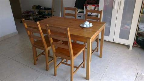 ikea dining table chair set sale furniture singapore adpostcom classifieds singapore ikea dining table chair set