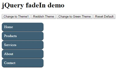 jquery div 5 demos of jquery to add change remove css for div menu