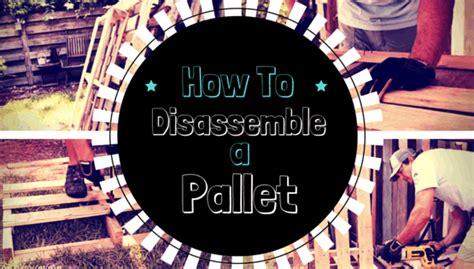 disassemble  pallet  easy methods