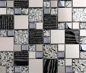 Metal Wall Tiles Kitchen Backsplash Silver Metal Mosaic Stainless Steel Tile Kitchen Backsplash Wall Tiles Ssmt114 Glass Mosaic Tile