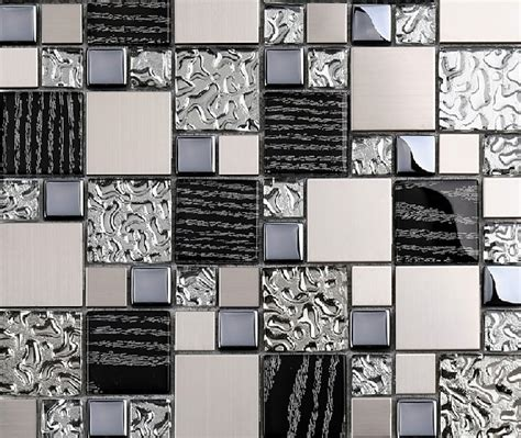 metal wall tiles kitchen backsplash silver metal mosaic stainless steel tile kitchen