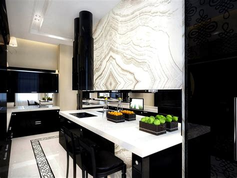 wallpaper for black and white kitchen black and white kitchen design for your best home