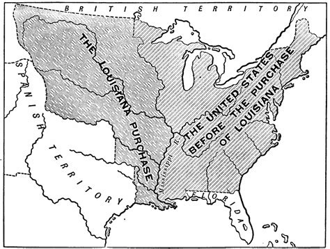 map of the united states louisiana purchase the territory of the united states before and after the