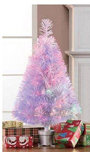 ge white fiberoptic tree w multi colored lights fiber optic decorations hip who