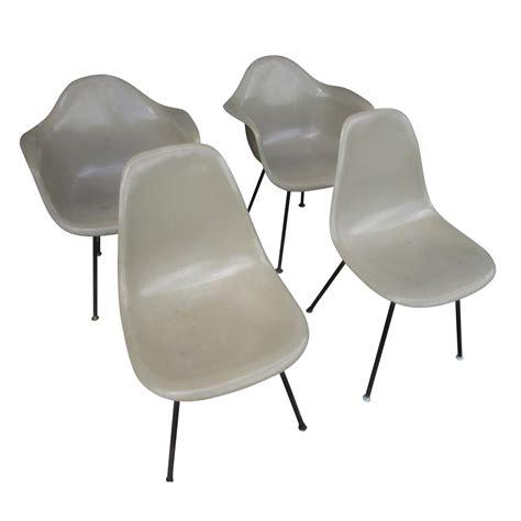 fiberglass shell chair vintage mid century modern fiberglass shell chair eames