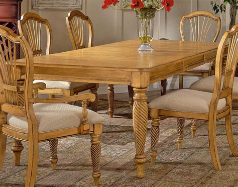 Pine Dining Room Furniture Hillsdale Wilshire Rectangular Dining Table Antique Pine 4507 819 Hillsdalefurnituremart