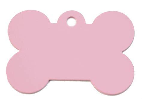 id tags large pink bone id tag classic