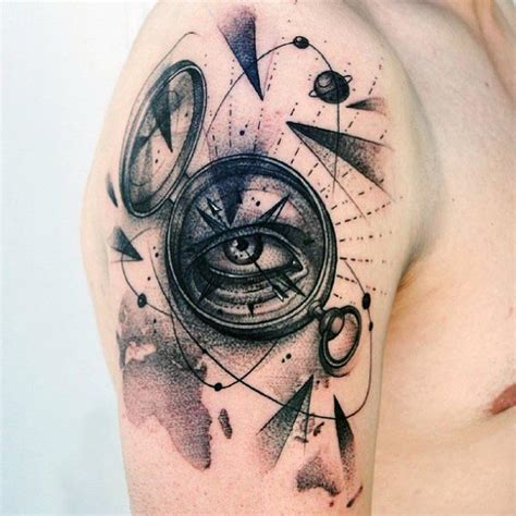 compass eye tattoo meaning 90 cool arm tattoos for guys manly design ideas
