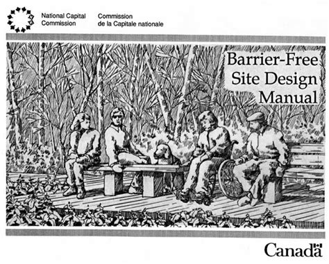 design manual for a barrier free environment national capital commission barrier free site design