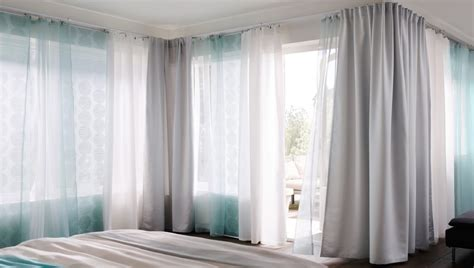 Ikea Track Curtains with Curtain Tracks Cope With Corners