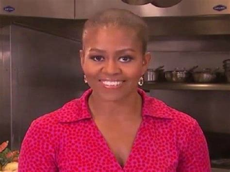 does michelle obama have hair extensions is michelle obama bald probably not but people are