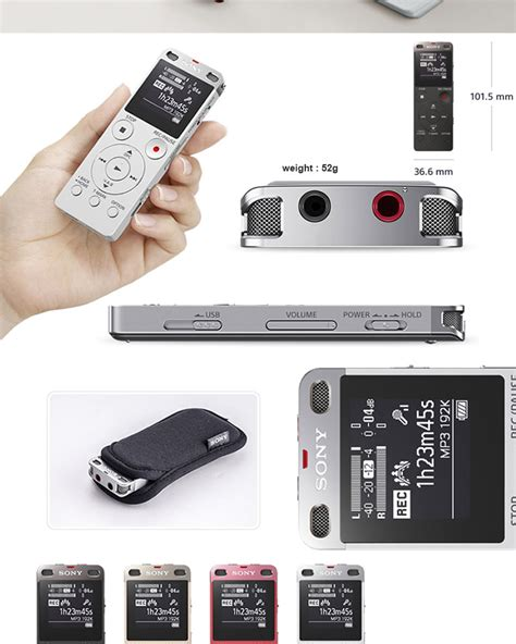 Dijamin Sony Voice Recorder Icd Ux560f sony icd ux560f digital voice recorder with built in 4gb usb mp3 fm radio recorder