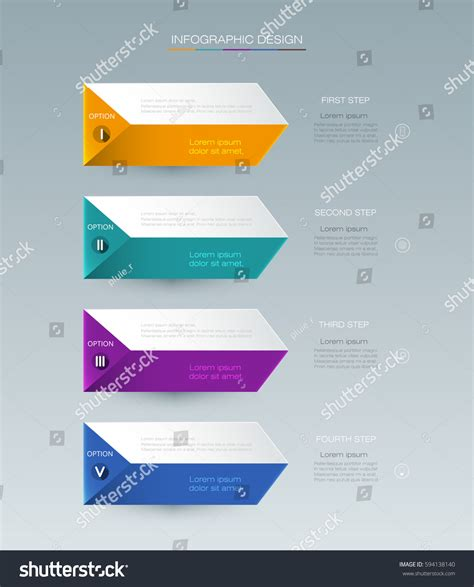 banner workflow vector infographic label design icons 4 stock vector