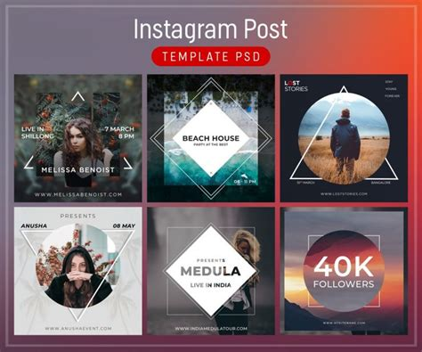 Instagram Post Template Free Psd Download Psd Instagram Post Template Psd