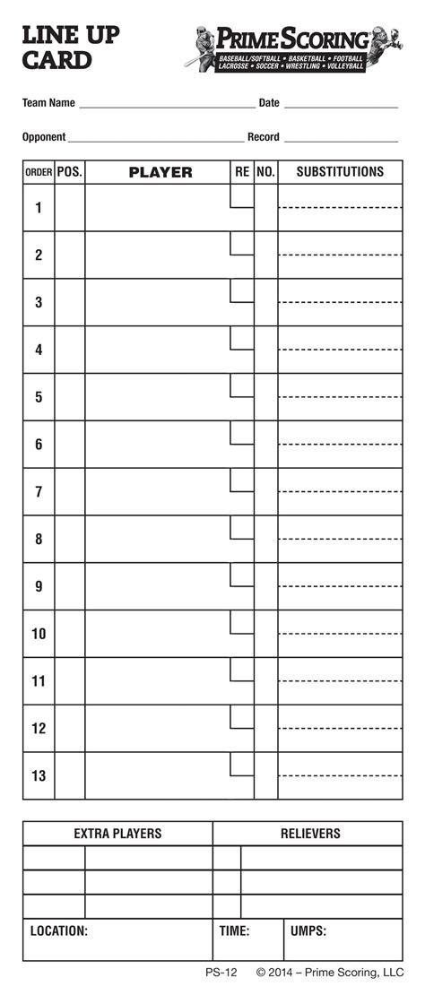 printable volleyball rotation cards baseball lineup card 1373 more details baseball dugout