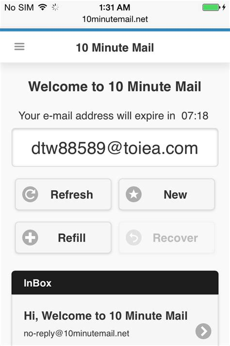 10minutemail mobile 10 minute mail 10 minutemail