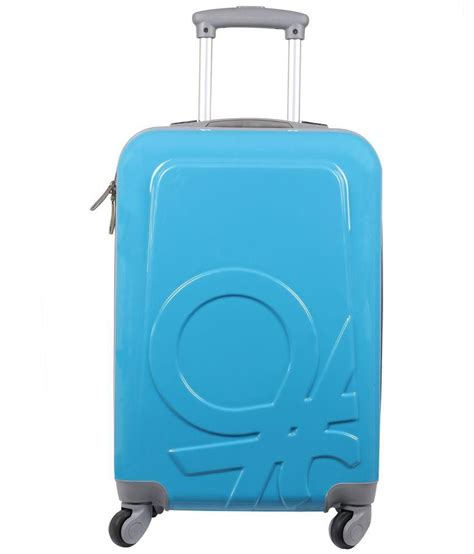 colors of united colors of benetton blue 4 wheels trolley bag buy