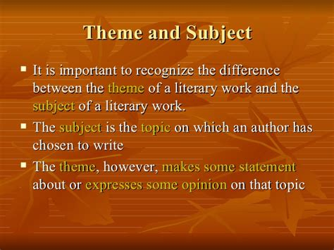 themes in literature test 7 theme in literature