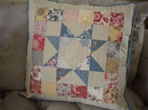 How To Make A Patchwork Cushion - how to make a patchwork pillow a tutorial for using