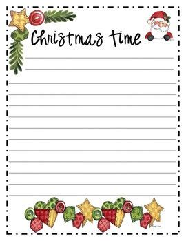 christmas themed paper free christmas writing papers printables for school