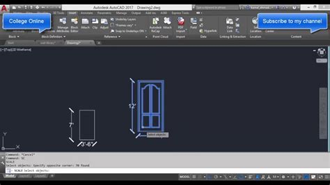 autocad tutorial scale drawing autocad training online scale factor command tutorial in