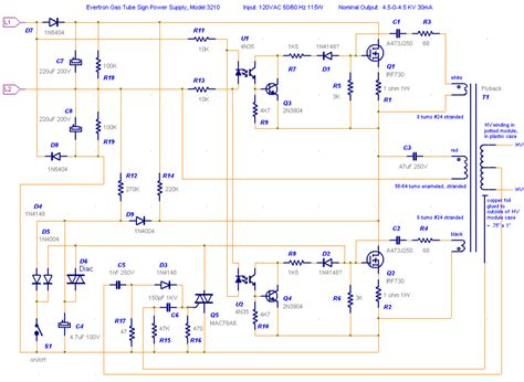 14 allanson transformer wiring diagram neon sign