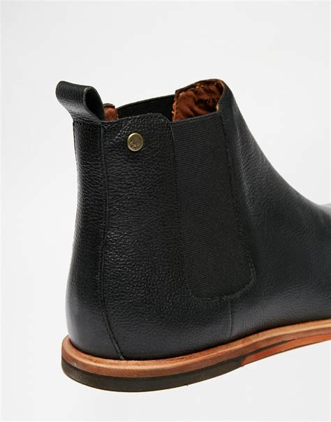 flat soled shoes lyst frank wright burns leather chelsea boots in black
