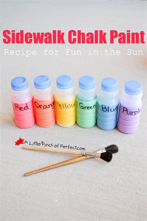 diy chalk paint outside sidewalk chalk paint recipe for in the sun