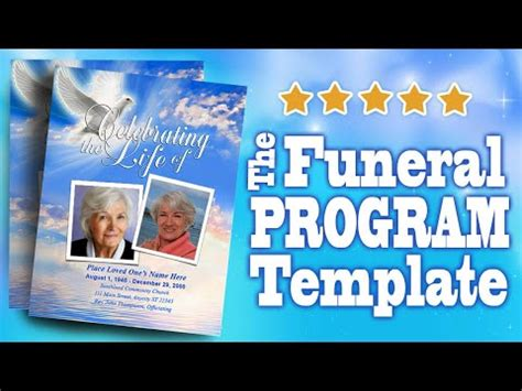 funeral programs  funeral program templates youtube