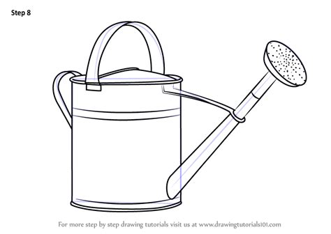 Drawings Of Watering Cans step by step how to draw watering can