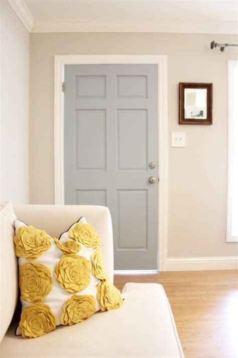 gray door transitional entrance foyer benjamin wedgewood gray 346 living