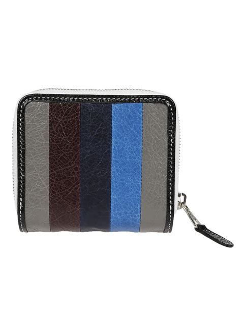 pattern wallet balenciaga balenciaga striped pattern wallet gris bleu