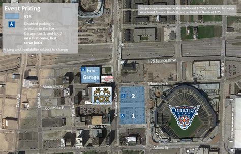 Fox Theater Parking Garage by Fox Theatre Parking Event Map Olympia Entertainment