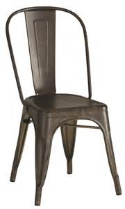industrial metal chair bronze color