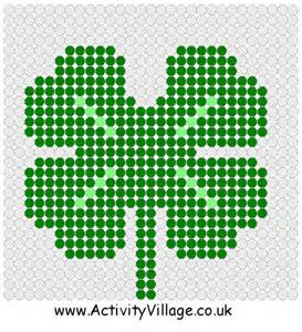 bead pattern worksheet st patricks pay kids printable shamrock documento sin t 237 tulo